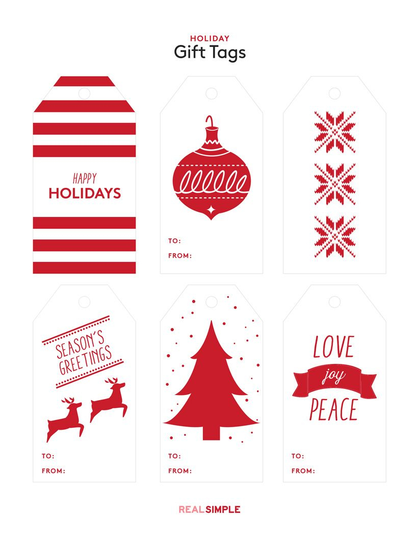 Customize Your Presents With These Free Printable Gift Tags - Printable Gift Tags Customized Free