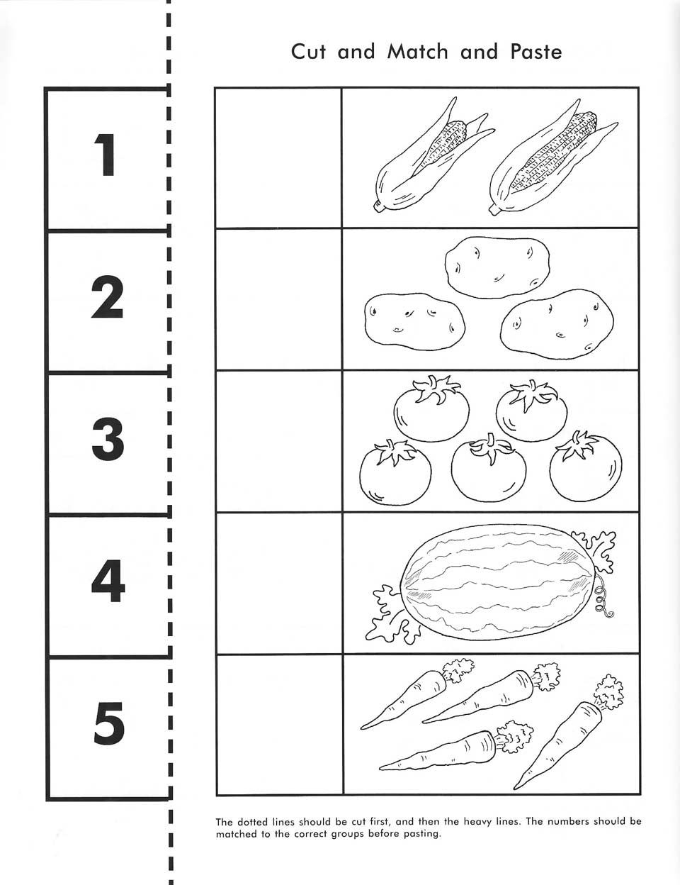 Cut, Count, Match And Paste / Free Printable   Pre-K Math - Free Printable Kindergarten Worksheets Cut And Paste