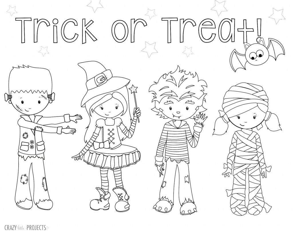 Cute Free Printable Halloween Coloring Pages | Halloween Party - Free Printable Halloween Coloring Pages