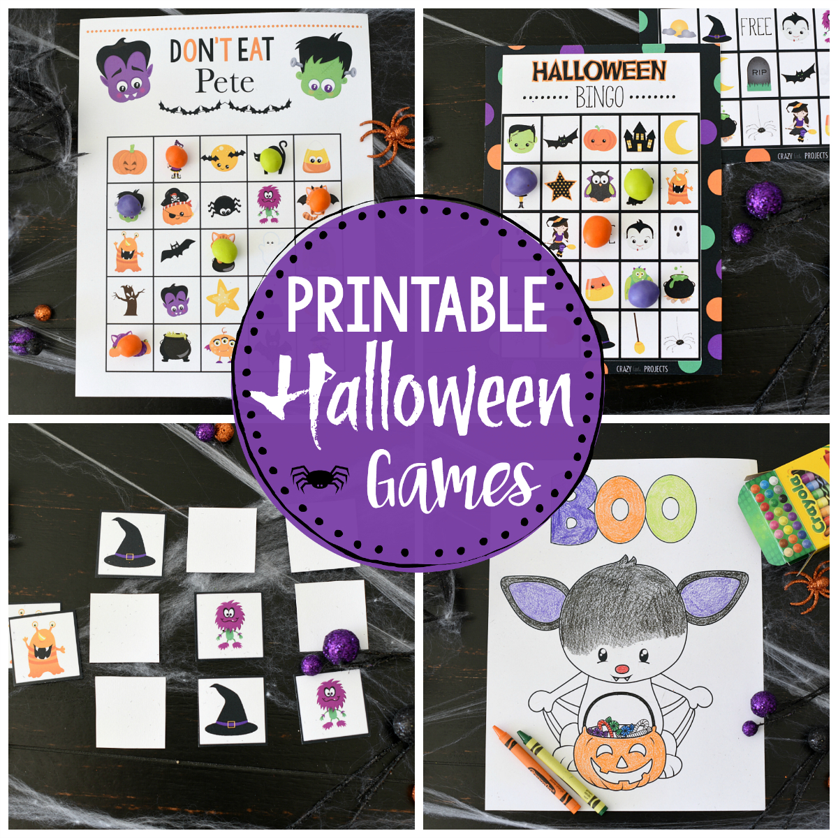 Cute Printable Halloween Games For Kids – Fun-Squared - Free Printable Halloween Games For Kids