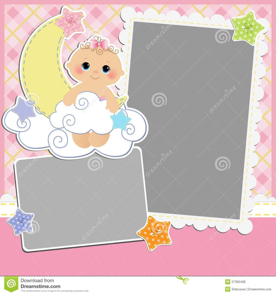 Cute Template For Baby's Card Stock Vector - Illustration Of Album - Free Printable Baby Cards Templates