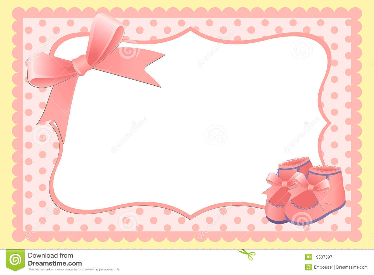Cute Template For Baby's Card Stock Vector - Illustration Of Holiday - Free Printable Baby Announcement Templates