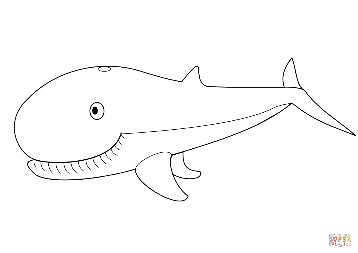 Cute Whale Coloring Page | Free Printable Coloring Pages - Free Printable Whale Template