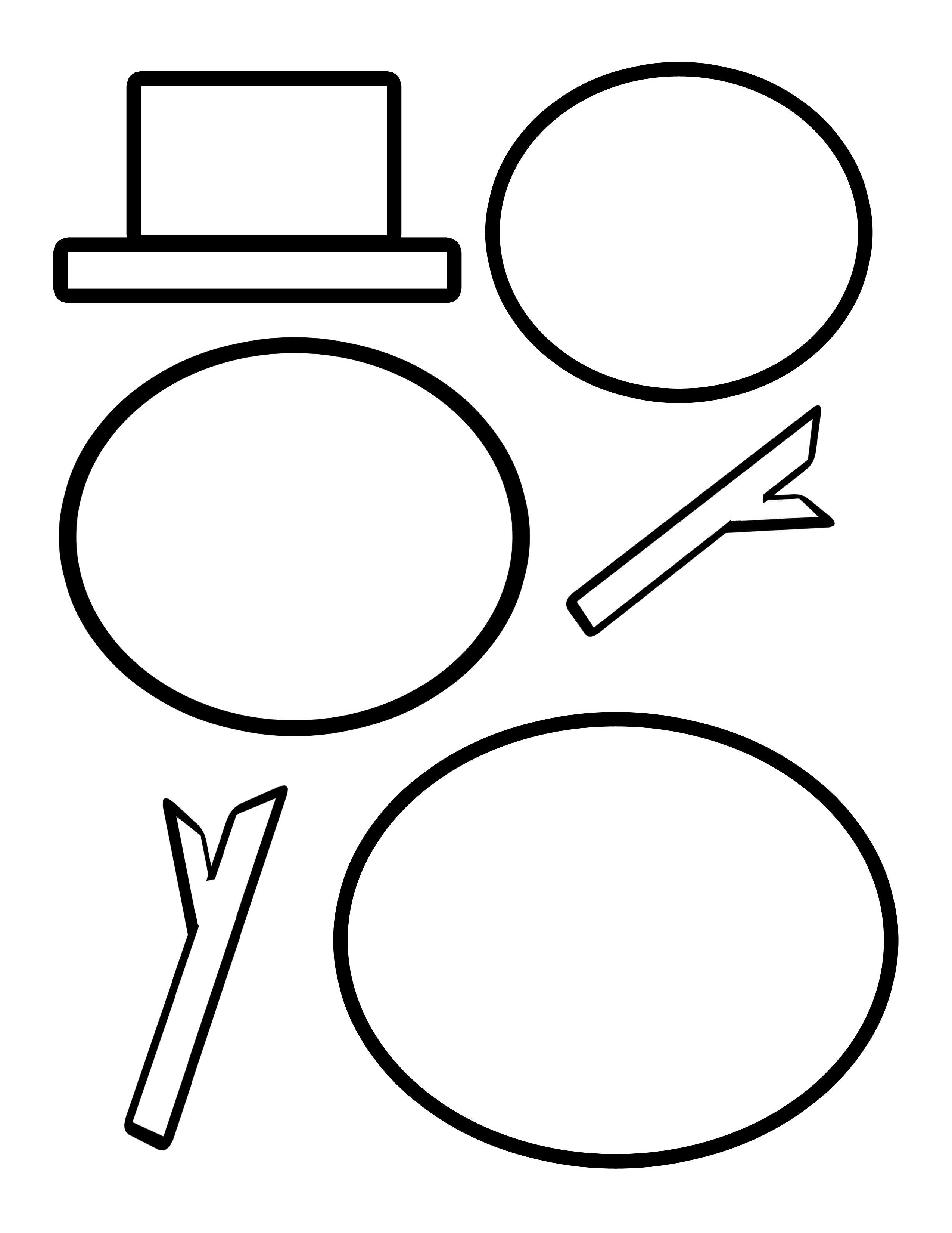 Cutting Templates - Free Printable Snowman Patterns