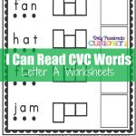 Cvc Worksheets: Cut And Paste Letter A – Only Passionate Curiosity – Free Printable Cvc Worksheets