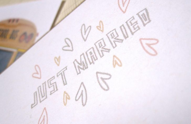 Just Married Free Printable