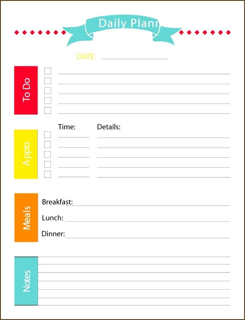 Daily Calendar Printable Template   Free Daily Calendar Template For - Free Printable Daily Schedule
