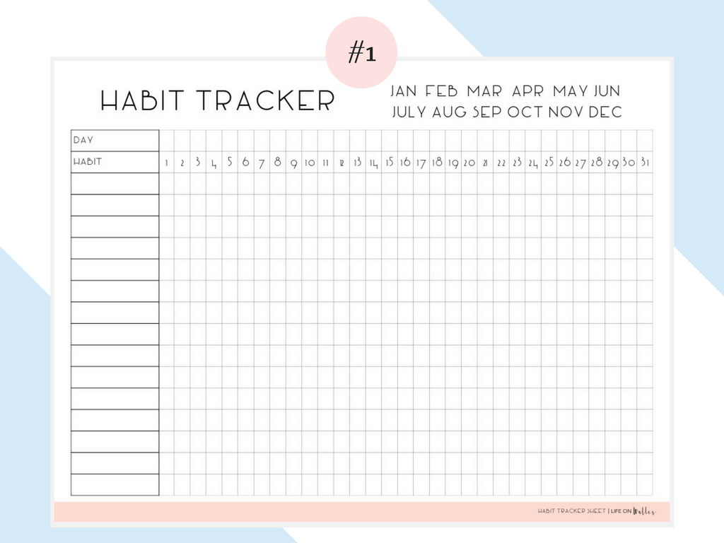 Daily Habit Tracker Free Printables - Cassie Scroggins - Habit Tracker Free Printable