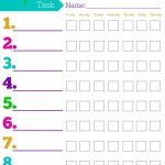 Daily Responsibilities Chart For Kids! Free Printable To Help   Free Printable Charts And Lists