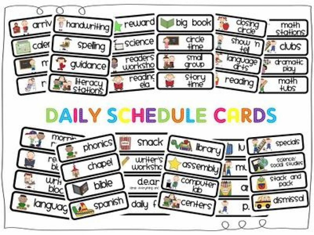 Daily Schedule Cards Printable - Yolar.cinetonic.co Intended For - Free Printable Picture Schedule Cards
