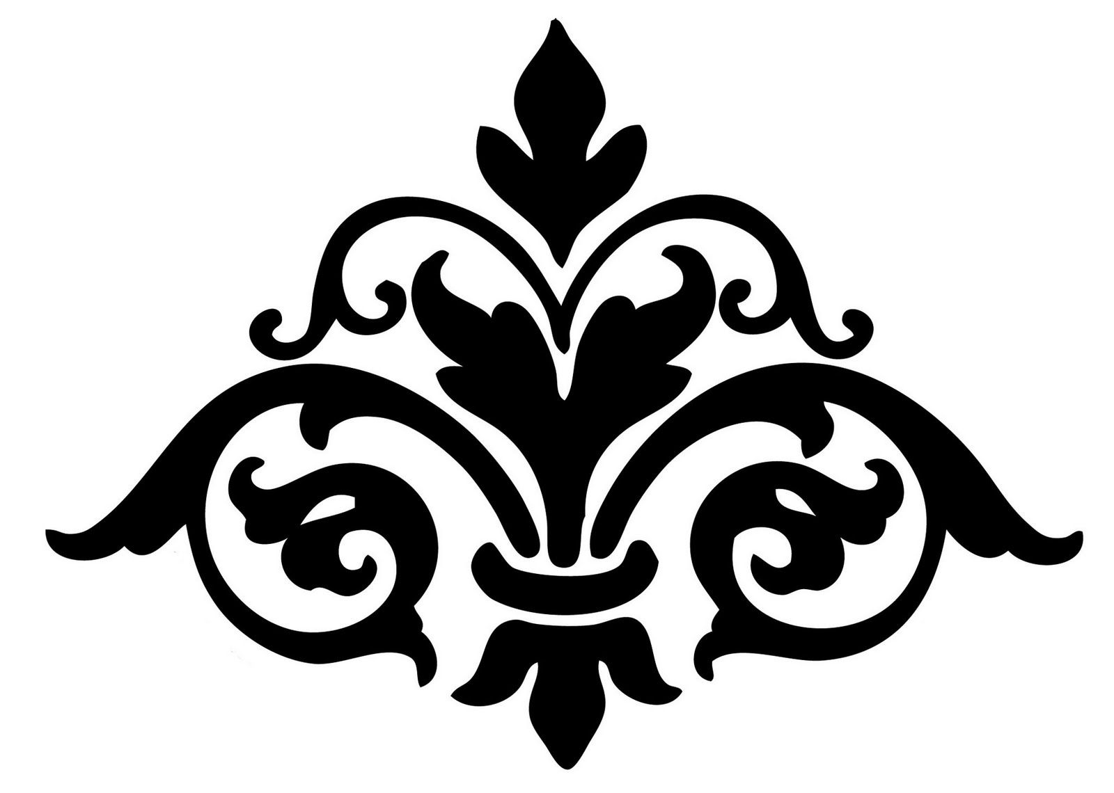 Damask Cliparts | Templates & Silhouettes | Printable Stencil - Damask Stencil Printable Free