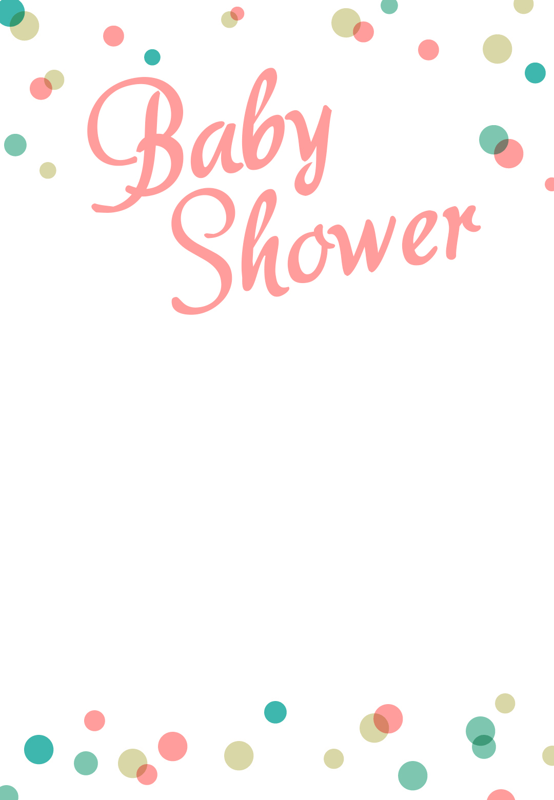 Dancing Dots Borders - Free Printable Baby Shower Invitation - Free Printable Baby Shower Clip Art