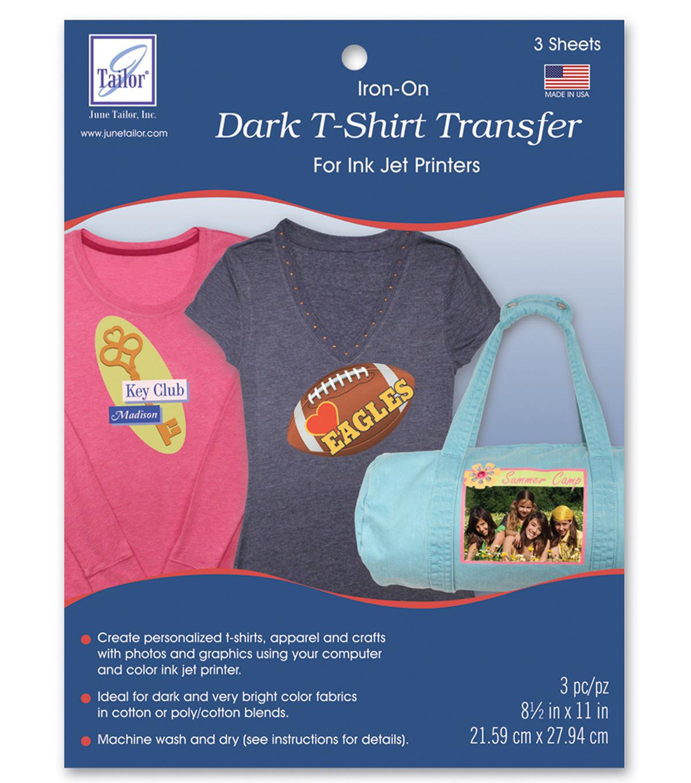 Dark T-Shirt Transfer Paper For Ink Jet Printers 3/pkg | Joann - Free Printable Iron On Transfers For T Shirts