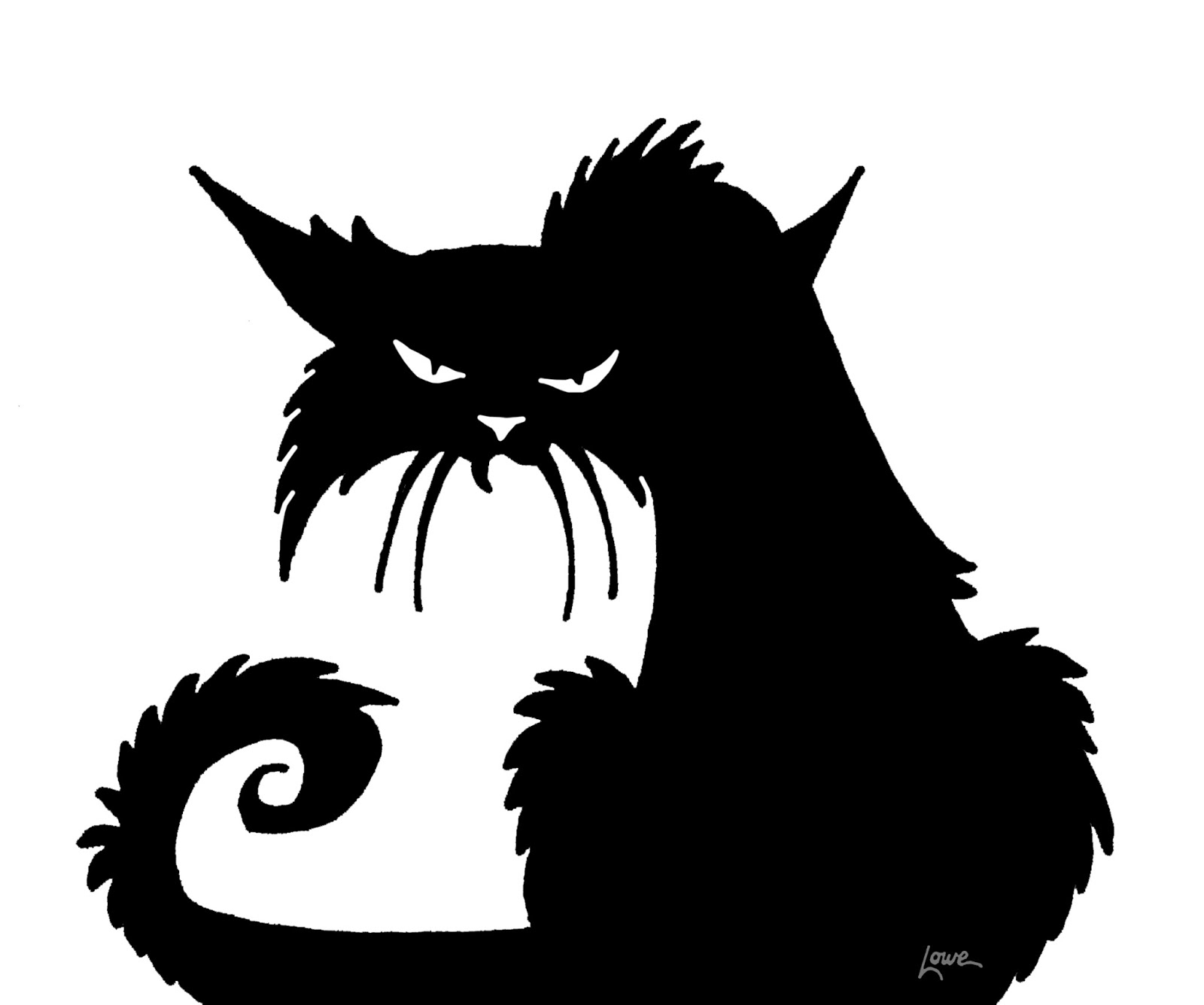 Dave Lowe Design The Blog: Witchcrafty Window Silhouette Printables - Free Printable Cat Silhouette