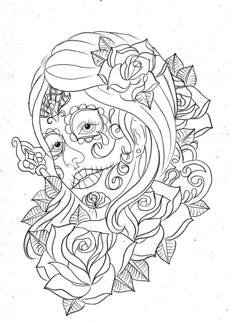 Day Of The Dead Coloring And Craft Activities | Coloring - Free Printable Day Of The Dead Coloring Pages