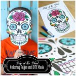 Day Of The Dead Mask Printable   Free Printable Day Of The Dead Worksheets
