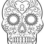 Day Of The Dead Sugar Skull Coloring Page | Free Printable Coloring   Free Printable Day Of The Dead Worksheets