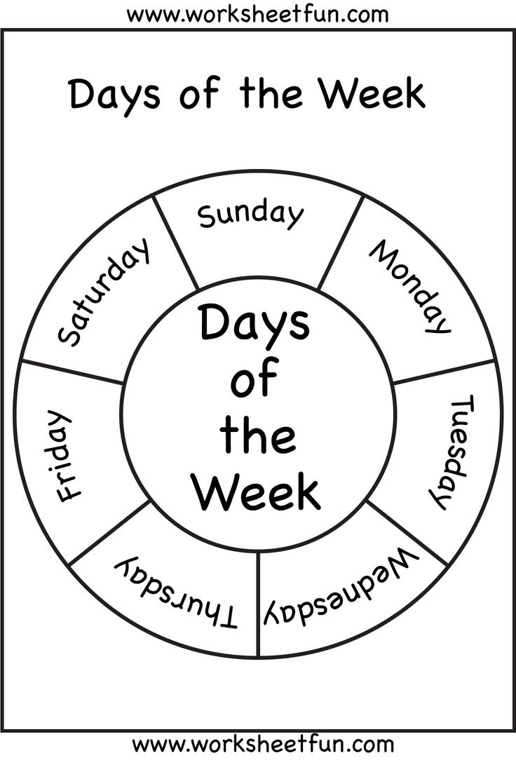 Days Of The Week | Days Of The Week! | Preschool Worksheets - Free Printable Months Of The Year Chart