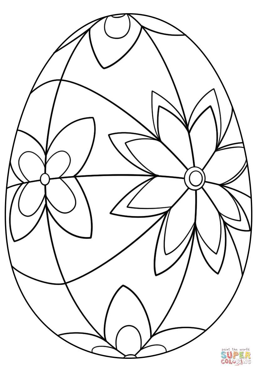 Detailed Easter Egg Coloring Page   Free Printable Coloring Pages - Free Printable Easter Basket Coloring Pages