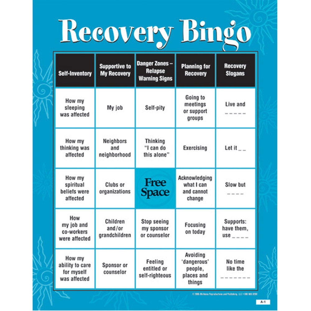 Developing Support Recognizing Danger Zones Recovery Skills Bingo Game - Free Printable Recovery Games