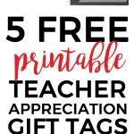 Digital Download: Teacher Appreciation Tags | Teacher Appreciation   Free Printable Tags For Teacher Appreciation