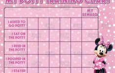 Free Printable Minnie Mouse Potty Training Chart