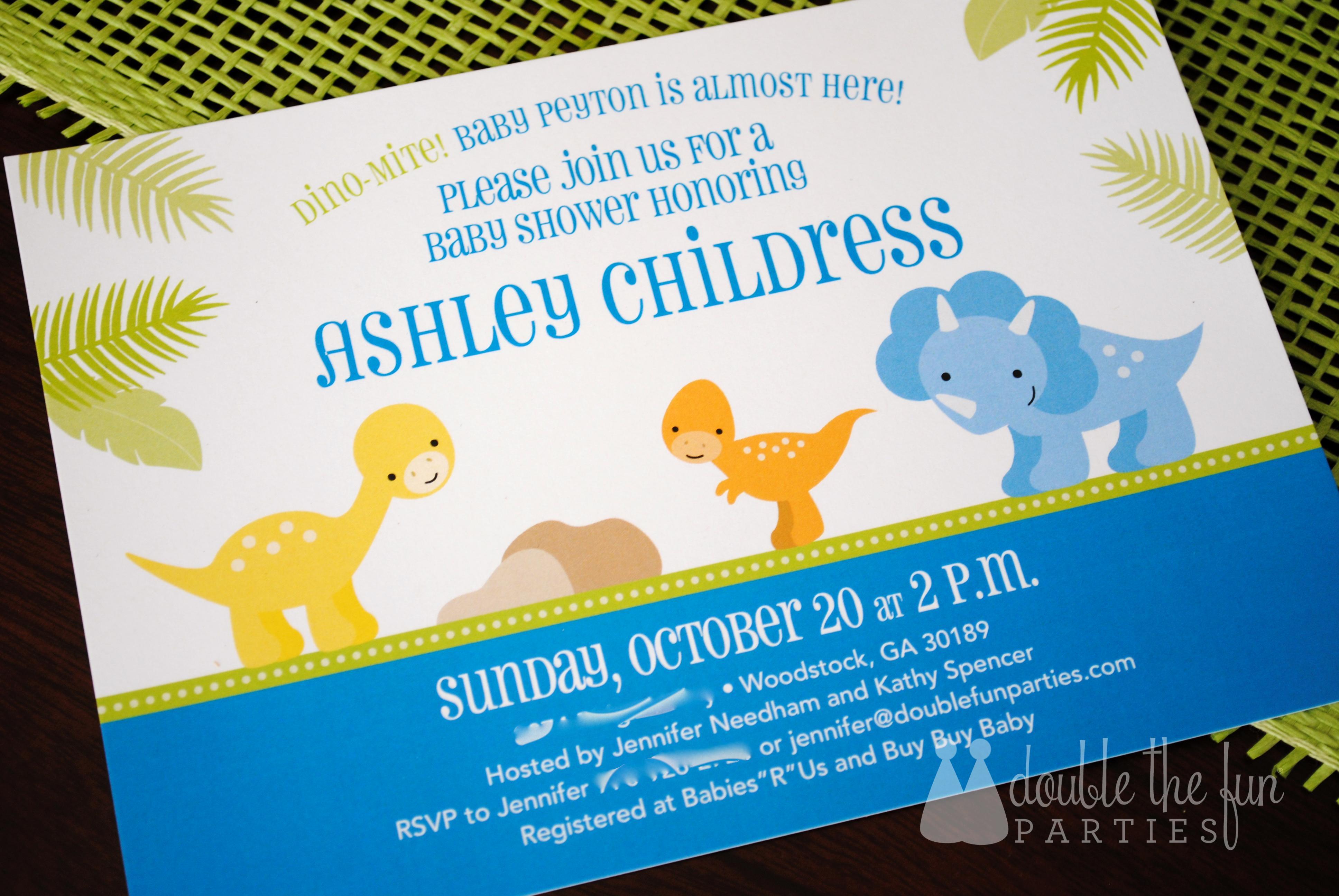 Dinosaur Baby Shower Invitations Dinosaur Baby Shower Invitations - Free Printable Dinosaur Baby Shower Invitations