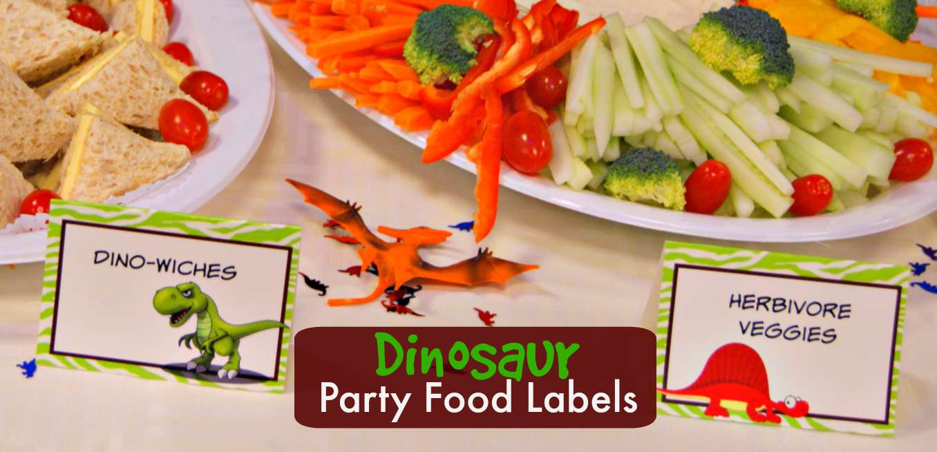 Dinosaur Party Food Labels | Free Printable - Free Printable Dinosaur Labels