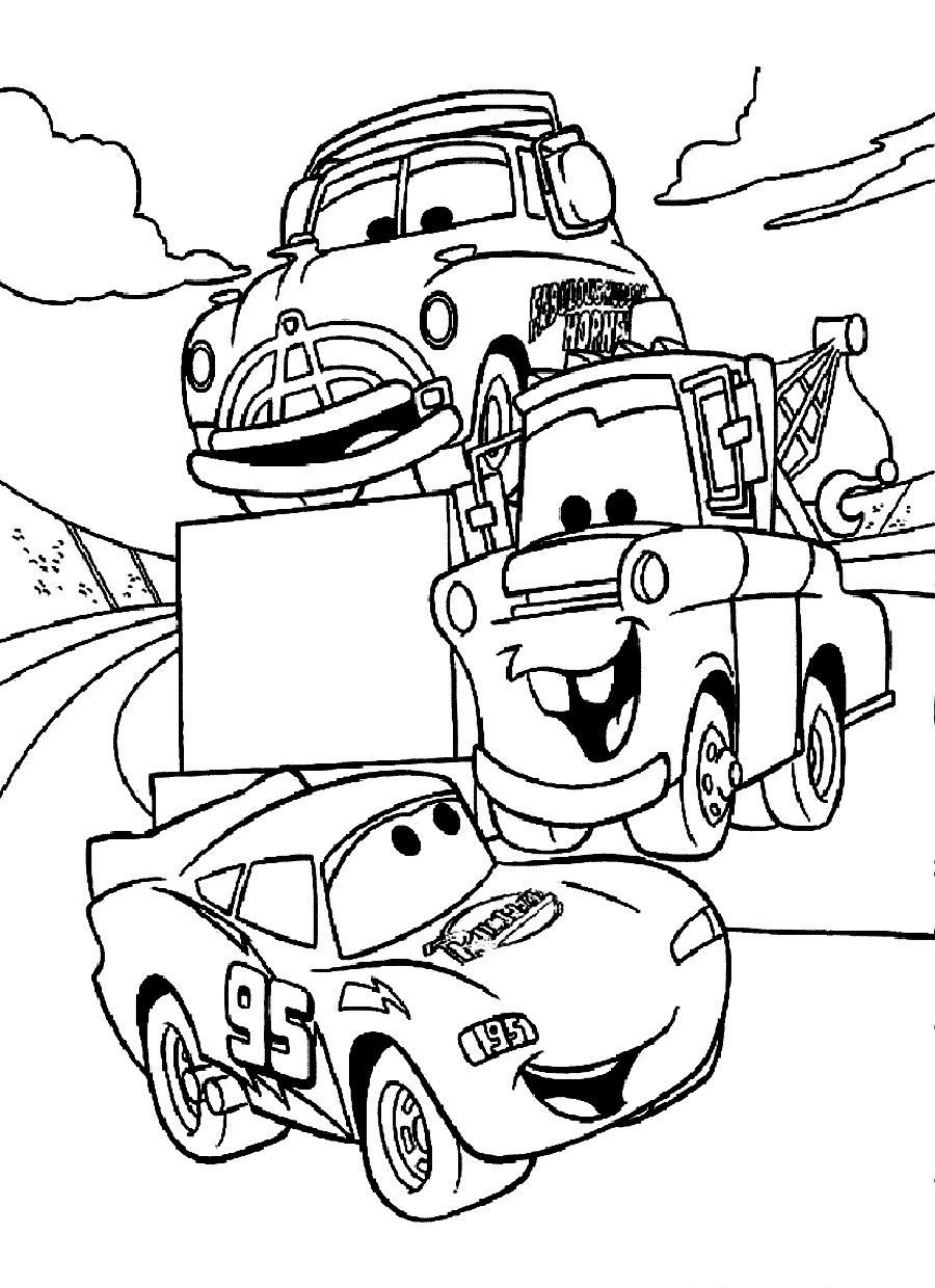 Disney Cars Coloring Pages - Free Large Images | Arts | Cars - Cars Colouring Pages Printable Free