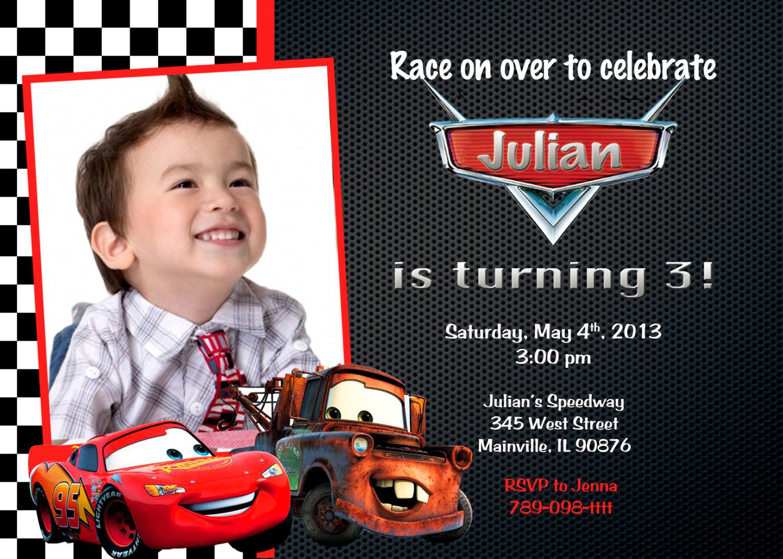 Disney Cars Invitation - Free Printable Disney Cars Birthday Party Invitations