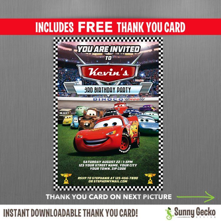 Free Printable Disney Cars Birthday Party Invitations