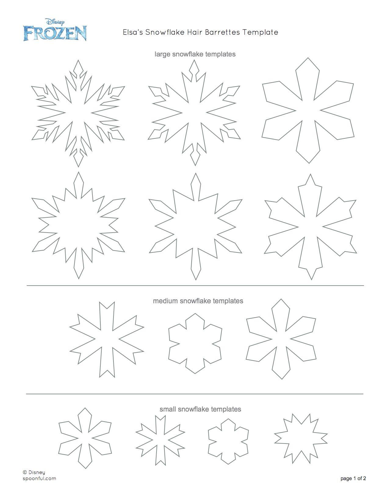 Disney-Frozen-Elsa-Snowflake-Hair-Barrettes-Printable-0813 - Disney - Free Printable Snowflake Patterns