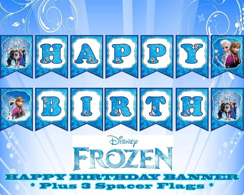 Disney Frozen Happy Birthday Banner | Birthday In 2019 | Pinterest - Frozen Happy Birthday Banner Free Printable