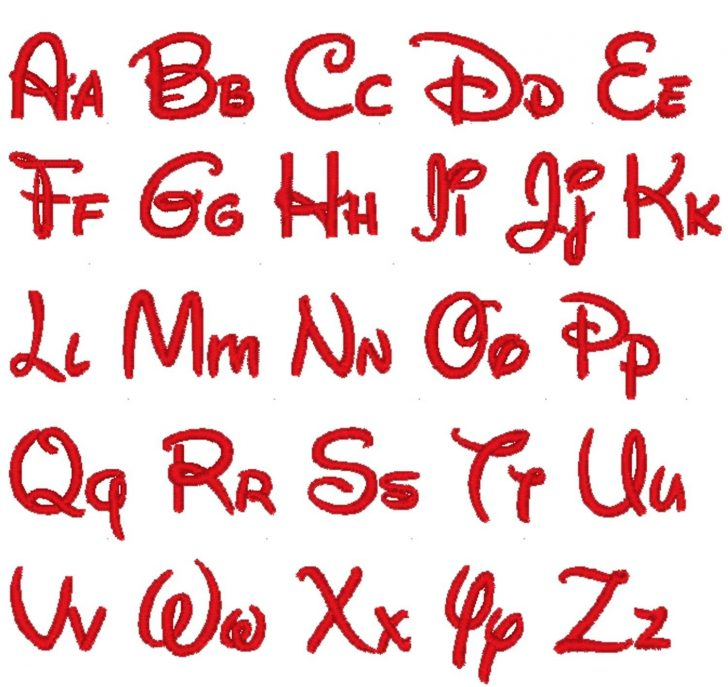 Free Printable Disney Font Stencils