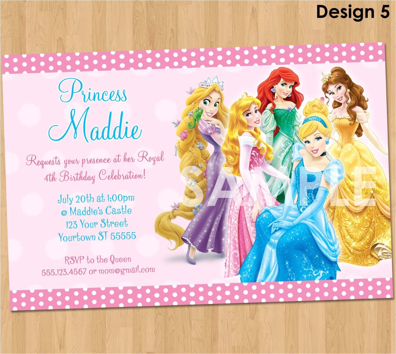 Disney Princess Birthday Invitations Free Printable - Disney Princess Free Printable Invitations