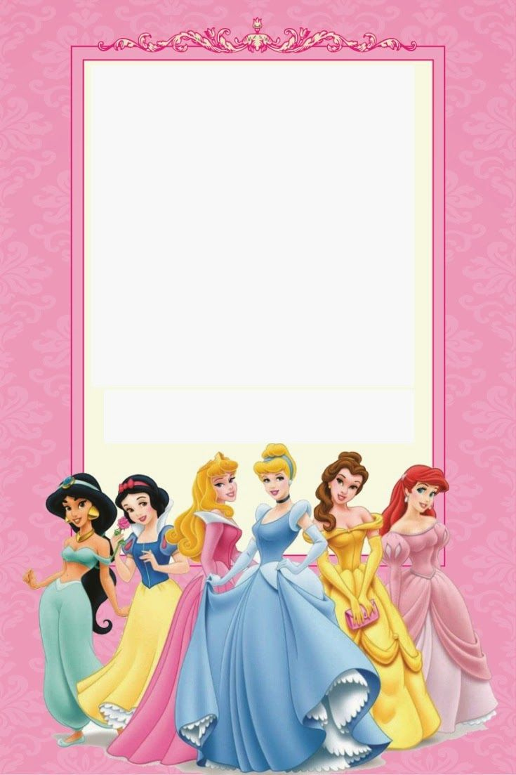 Disney Princess Birthday Invitations Printable Free | Borders And - Free Princess Printable Invitations