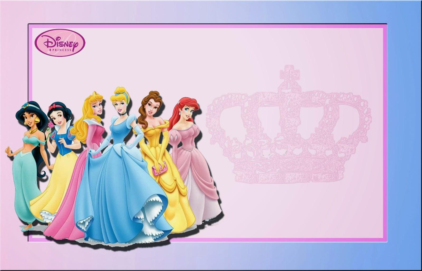Disney Princess: Free Printable Invitations Or Photo Frames. | Oh My - Free Printable Princess Invitation Cards