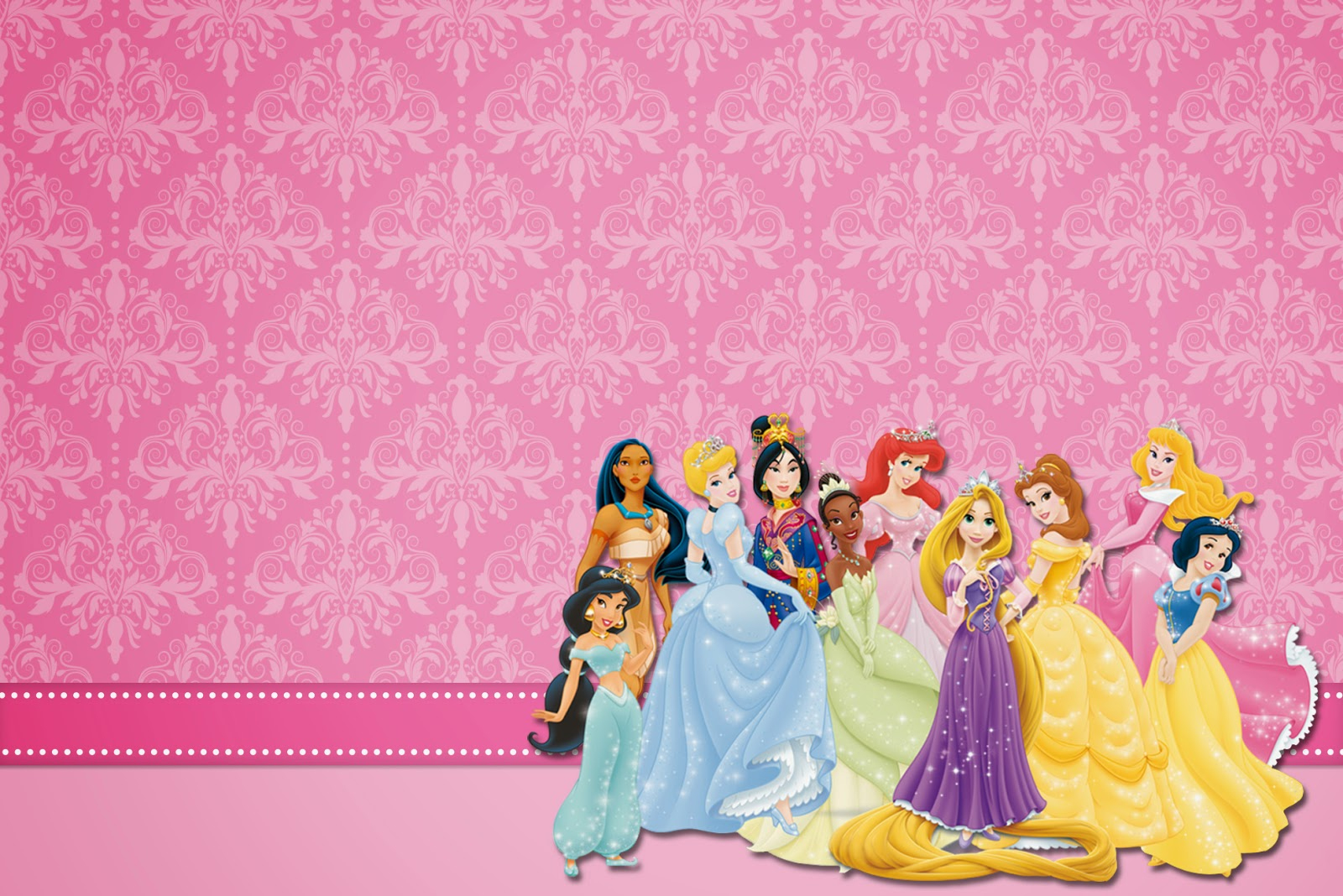 Disney Princess Party: Free Printable Party Invitations. | Oh My - Free Princess Printable Invitations