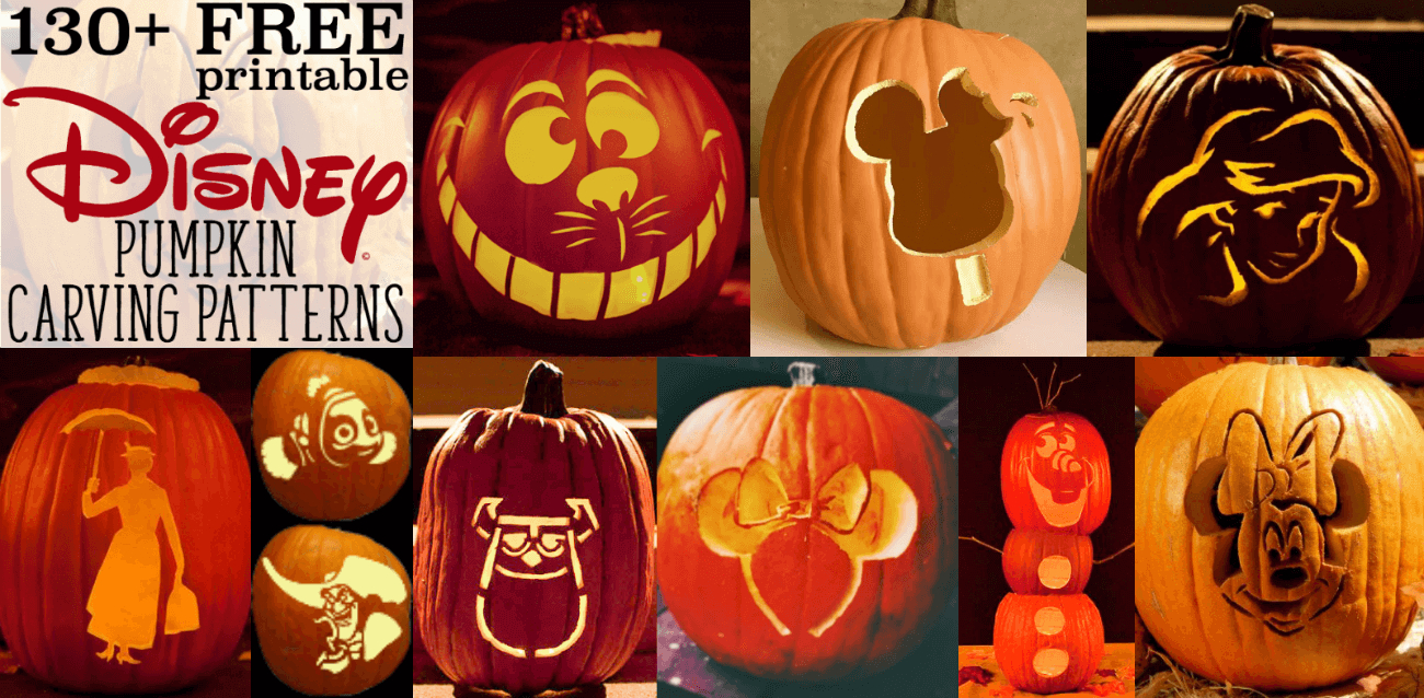 Disney Pumpkin Stencils: Over 130 Printable Pumpkin Patterns - Free Pumpkin Printable Carving Patterns