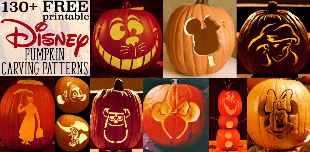 Disney Pumpkin Stencils: Over 130 Printable Pumpkin Patterns - Hard Pumpkin Carving Patterns Free Printable