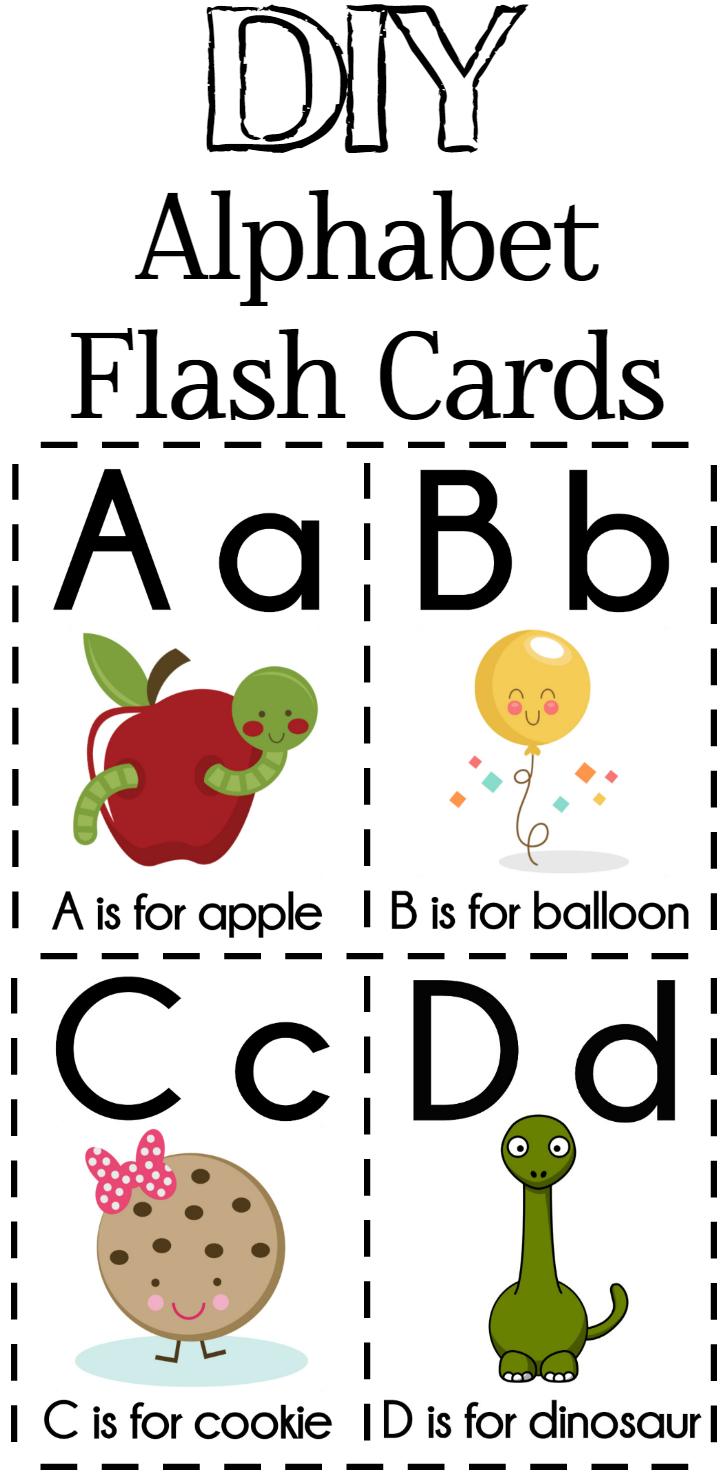 Diy Alphabet Flash Cards Free Printable | Alphabet Games - Free Printable Alphabet Flash Cards