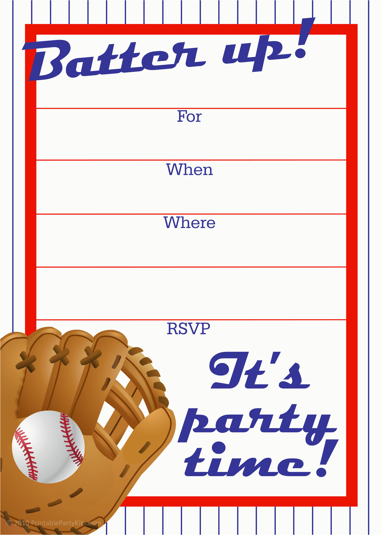 Diy Baseball Birthday Cards Free Printable Sports Birthday Party - Free Printable Sports Birthday Invitation Templates