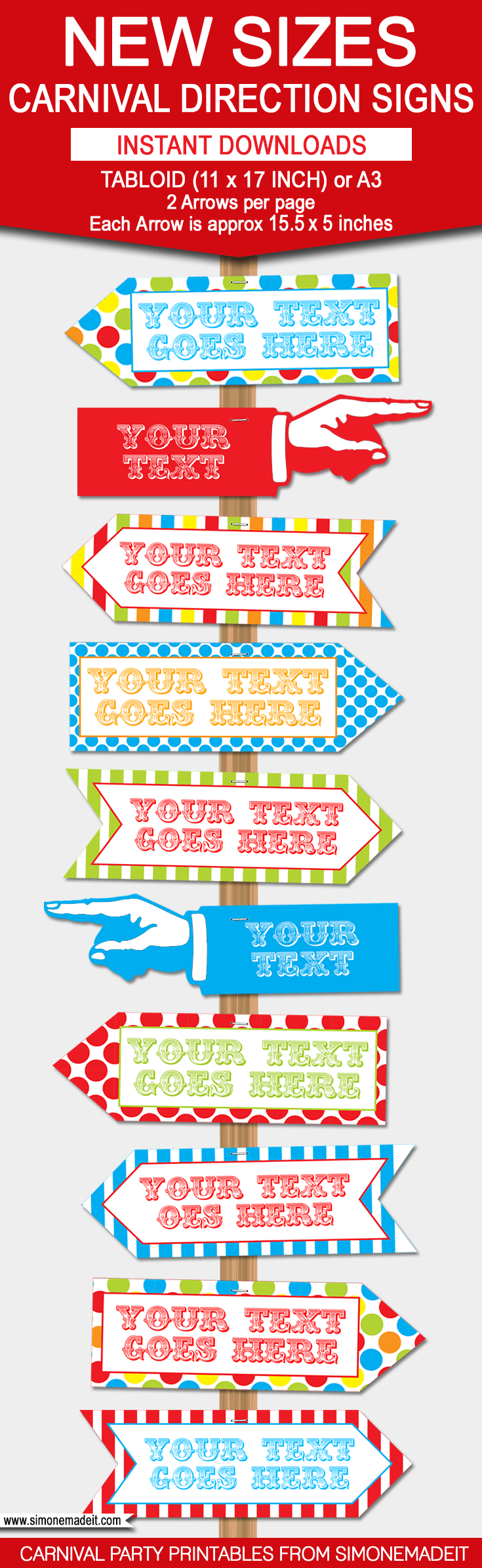 Diy Carnival Directional Sign | Carnival Party | Circus Party - Free Printable Carnival Decorations