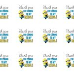 Diy Design Den: Minion Birthday Party With Free Printables. | Minion   Thanks A Minion Free Printable