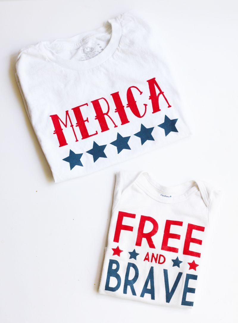 Diy Fourth Of July Shirts | Ksw & Co. Crafts | Pinterest | Fourth Of - Free Printable Iron On Transfers For T Shirts