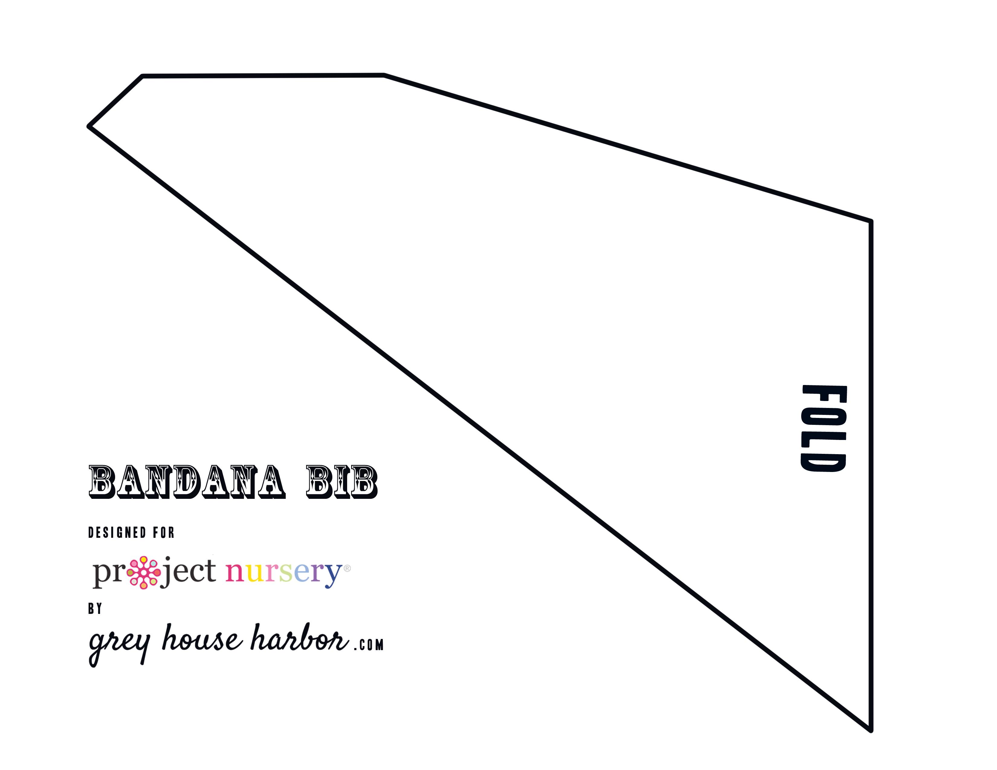 Diy : How To Sew A Bandana Bib - Project Nursery - Free Printable Baby Bandana Bib Pattern