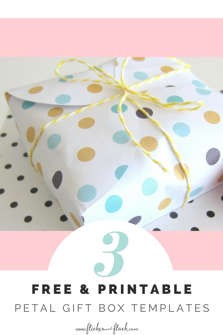 Diy Petal Gift Box + Freebies - Flicker + Flock - Gift Box Templates Free Printable