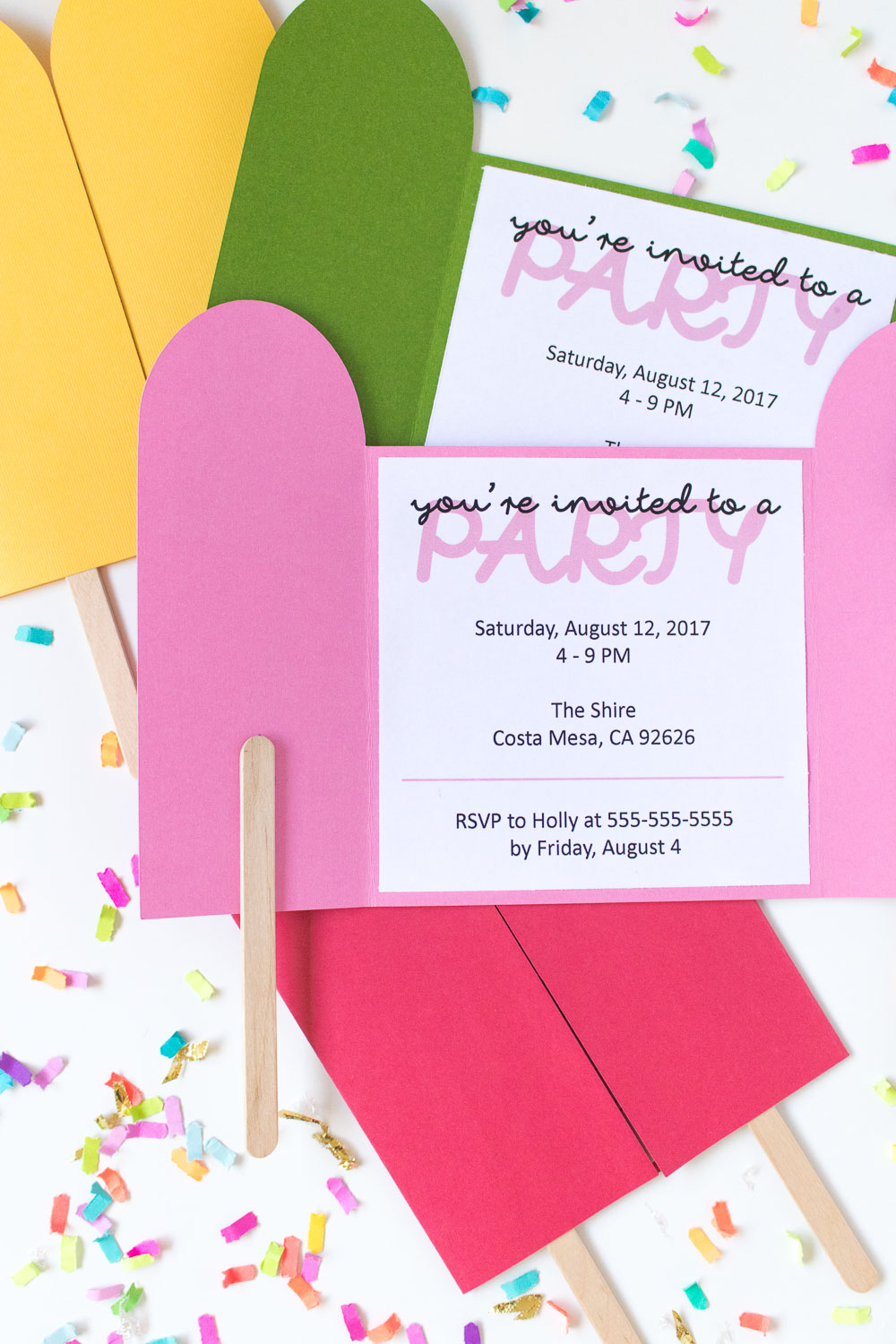 Diy Popsicle Invitations + Free Printable! | Club Crafted - Free Printable Popsicle Template