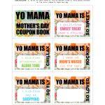Diy Printable Mother's Day Coupon Book–'yo Mama'   Free Printable Homemade Coupon Book