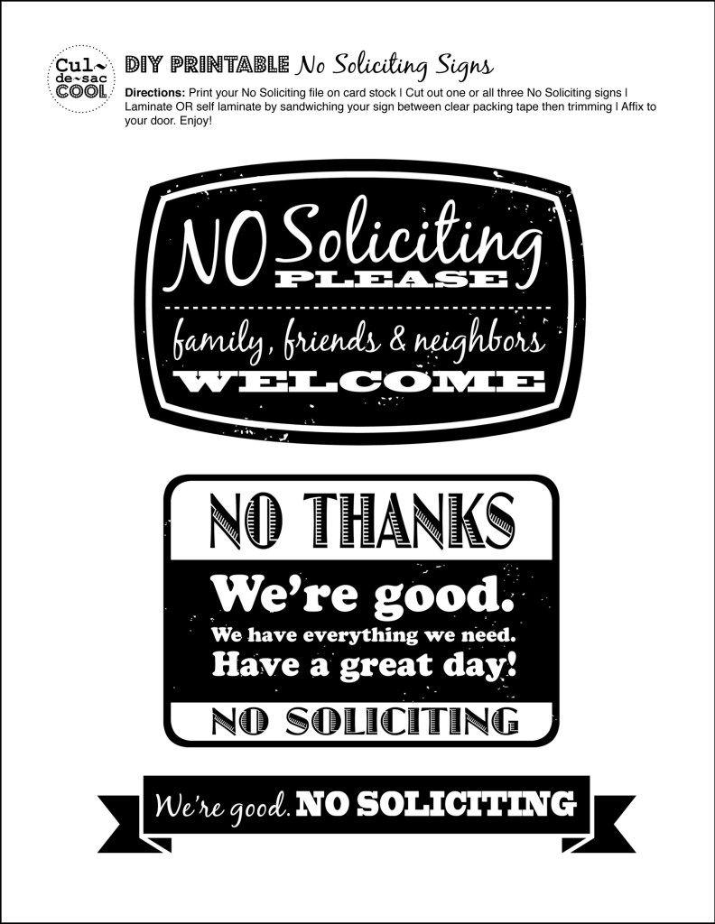 Diy Printable No Soliciting Signs …   No Soliciting Signs   Pinte… - Free Printable No Soliciting Sign
